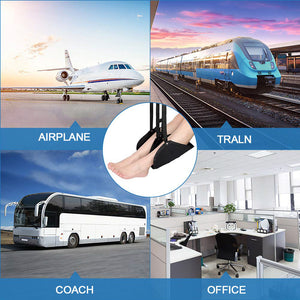 Portable Travel Airplane Chair Office Foot Hammock Comfy Hanger  Footrest