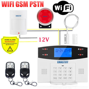 IOS Android APP Wired Wireless Home Security Alarm System