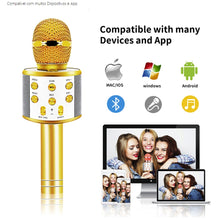 Load image into Gallery viewer, Professional Wireless karaoke Microphone Speaker  withBluetooth Radio Studio Record