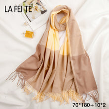 Load image into Gallery viewer, Cashmere Wool Winter Women Scarf