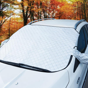 Car Windshield Snow Ice Sunshade Dust Frost Protector Cover with Mirror Cover