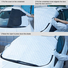 Load image into Gallery viewer, Car Windshield Snow Ice Sunshade Dust Frost Protector Cover with Mirror Cover