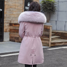Load image into Gallery viewer, Winter Parkas -30 degree hooded fur collar thick snow coat jacket