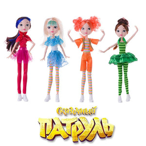 4pcs/set Cartoon Fairy Fantasy Patrol Fashion Doll Cloth Model Toys