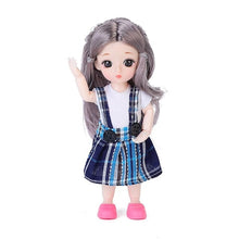 Load image into Gallery viewer, 20*10*10cm BJD Doll Mohair Doll With Wig 3D Eyes With Clothes Outfit Shoes Wig Hair Makeup Movable Joints Doll For Girls Gift