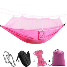 Load image into Gallery viewer, pink camping hammock with mosquito net
