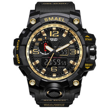 Load image into Gallery viewer, Black & Gold Military Watch