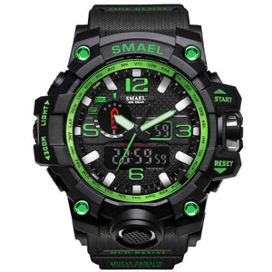 Black & Green Military Watch