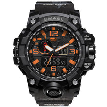 Load image into Gallery viewer, Black & Orange Military Watch