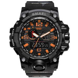 Black & Orange Military Watch
