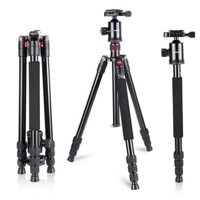 Aluminum Alloy 64 inches/162 cm Camera Travel Tripod Monopod with 360 Degree Ball Head,1/4 inch Quick Shoe Plate