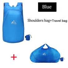 Load image into Gallery viewer, blue Backpack and shoulder bag