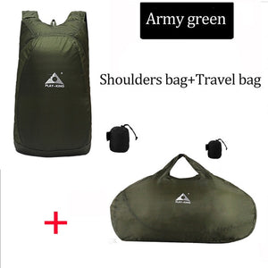 Army Green Backpack and Shoulder bag