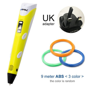 yellow 3d pen for uk