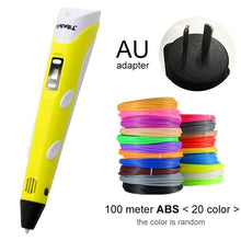 Load image into Gallery viewer, yellow 3d pen for AU