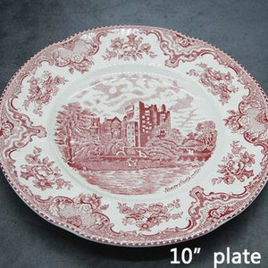 The Old Britain Castles Pink European Style Dinner Ware Ceramic Dishes