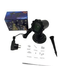Load image into Gallery viewer, Christmas Snowflake Laser Light Snowfall Projector IP65