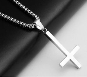 Stainless Steel Inverted Cross Pendant