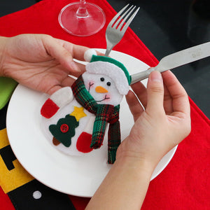 2018 Lovely Snowman Kitchen Cutlery