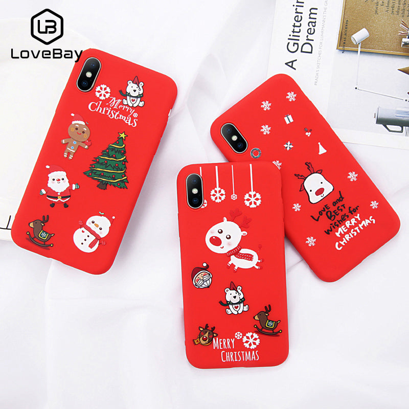 Deluxe Cute Cartoon Christmas iPhone Cover