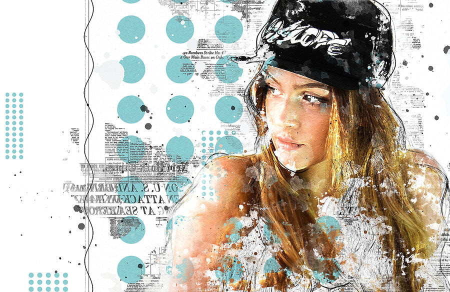 Editorial Mixed Media FX Photoshop Add-On