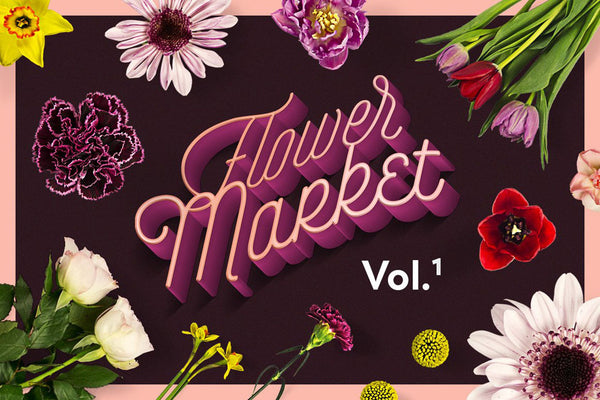 Flower Market Clipart Collection