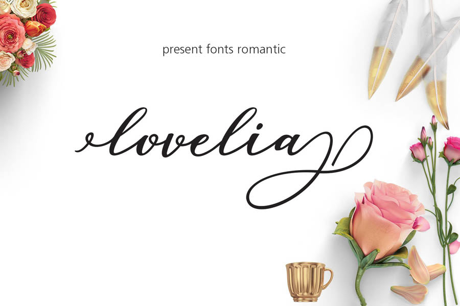 Lovelia Script and Comic Font Family