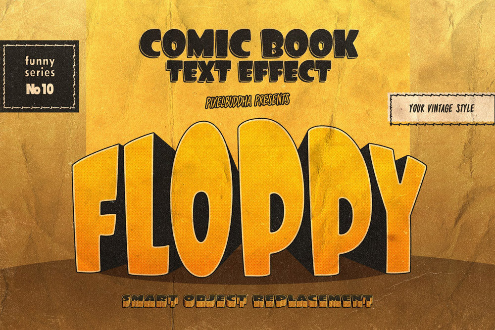 Vintage Comics Text Effects