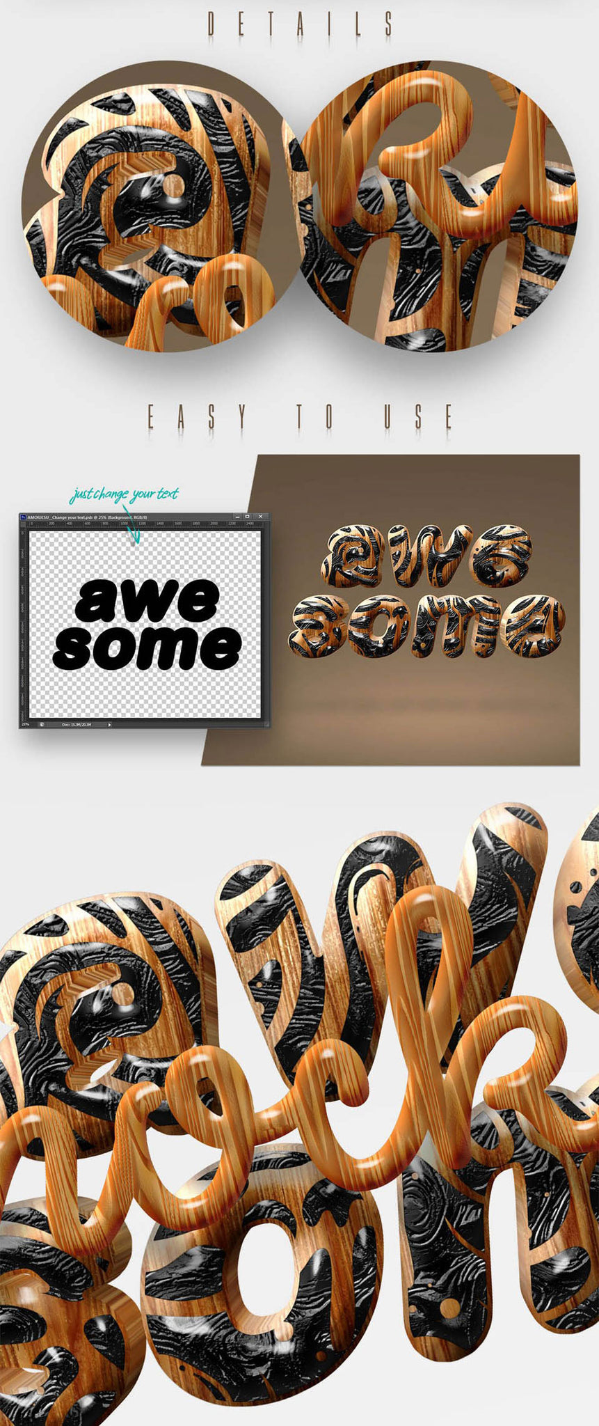 Awesome 3D Text Mockup Bundle