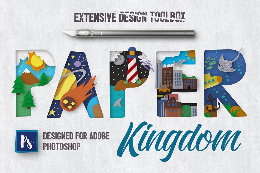Paper Kingdom Photoshop Layer Styles