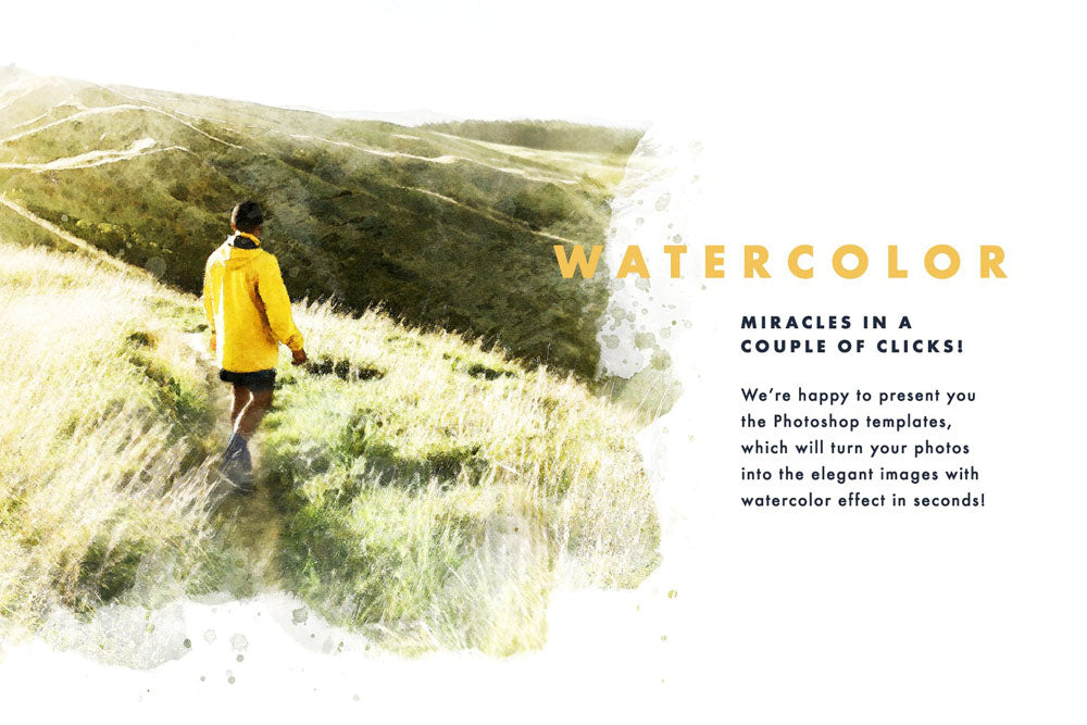 Watercolor Dry Brush Effects for Photoshop