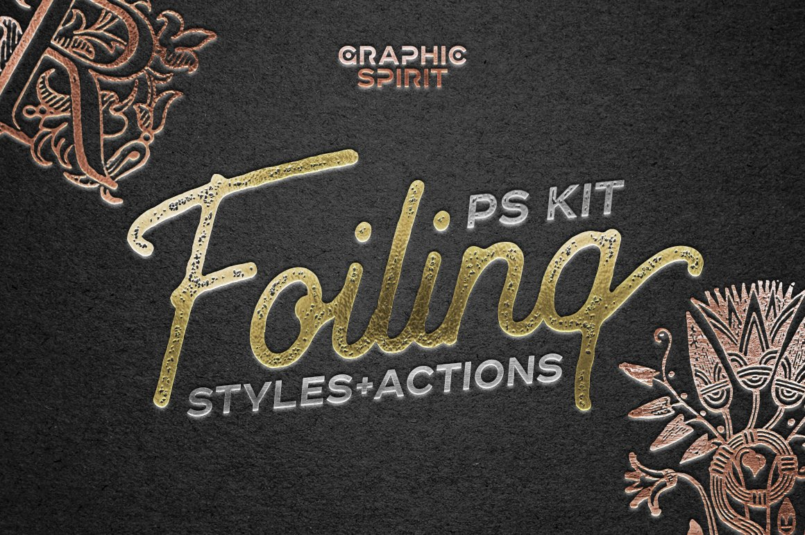 Foil Stamp Photoshop Styles & Actions
