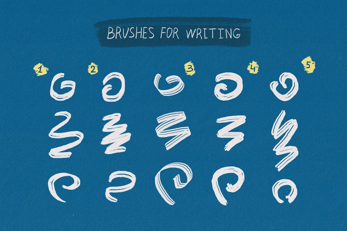 Essential Hand Drawn Photoshop Brushes