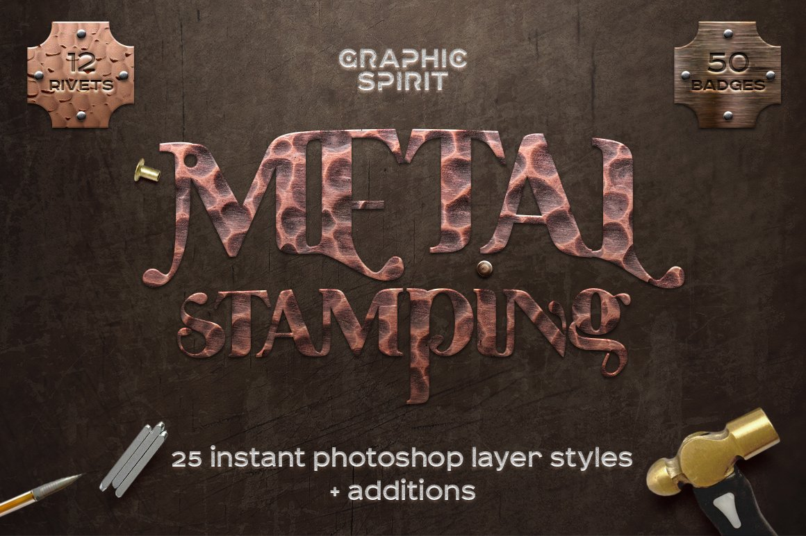 Metal Stamping Photoshop Styles
