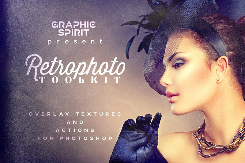 Retrophoto Toolkit Actions & Overlays