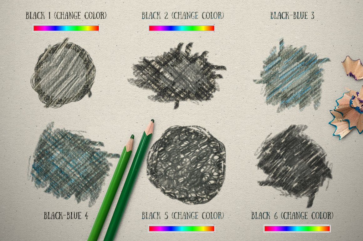 Color Pencil Box Photoshop Styles
