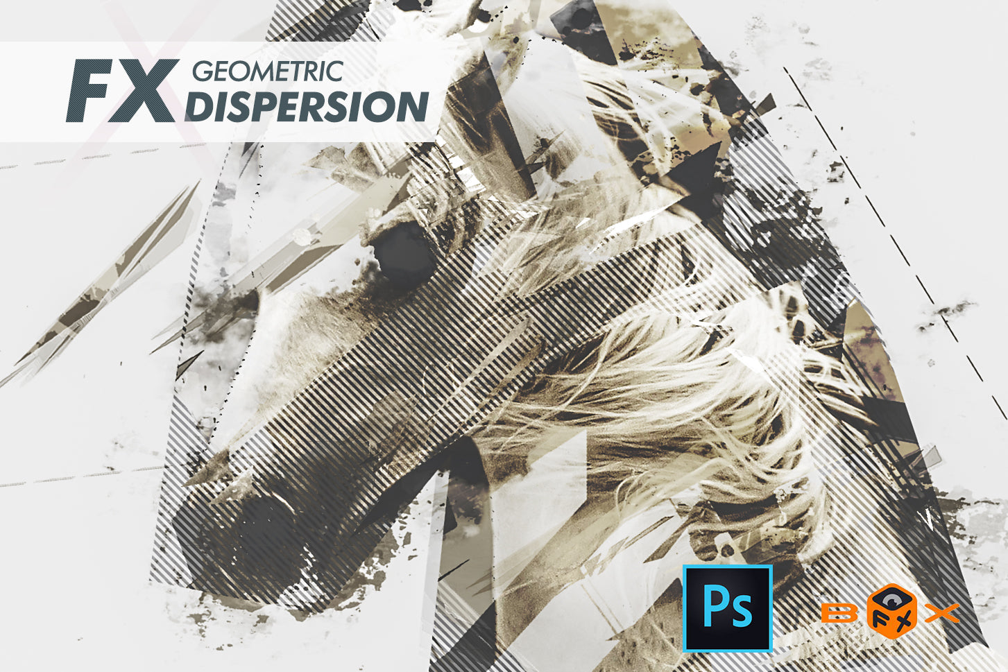 Geometric Dispersion FX Photoshop Add-On