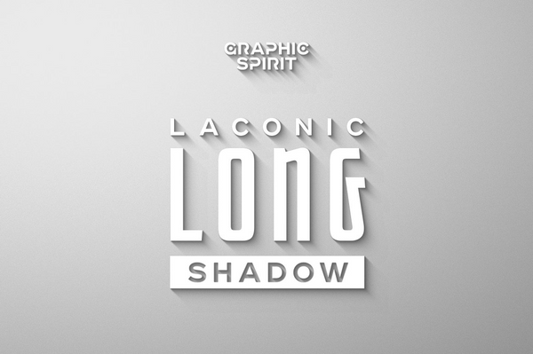 Laconic Long Shadow Generator for Photoshop