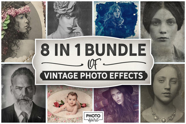 8 in 1 Vintage Photo Effects Bundle