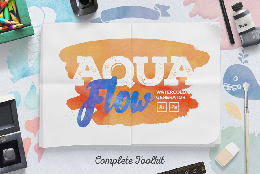 Aquaflow Watercolor Layer Styles