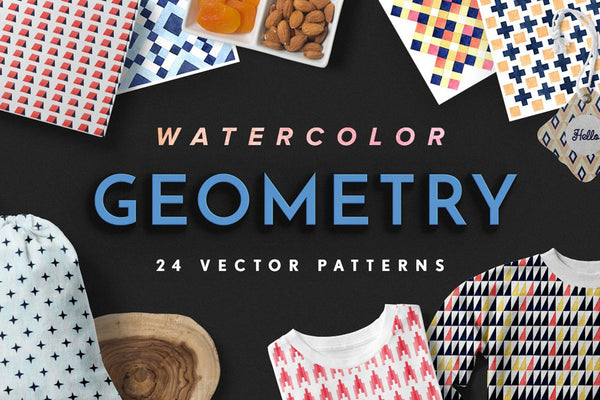 Geometry Watercolor Patterns