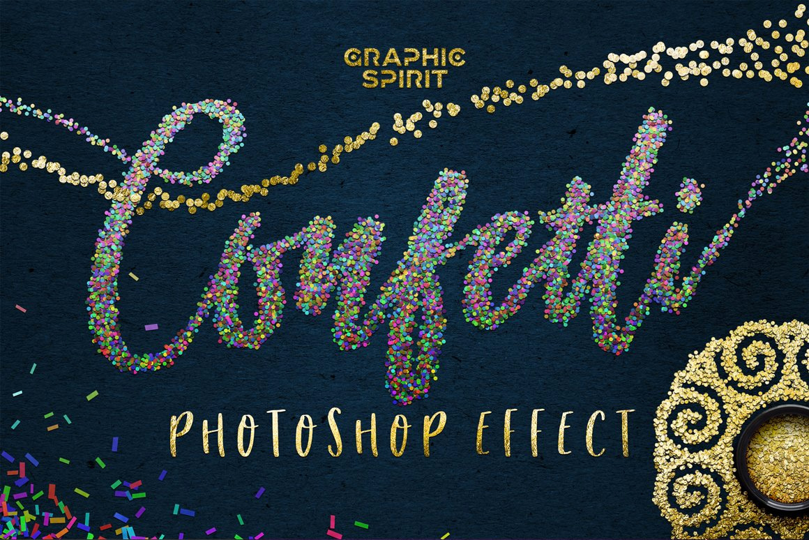 Confetti Effect for Photoshop