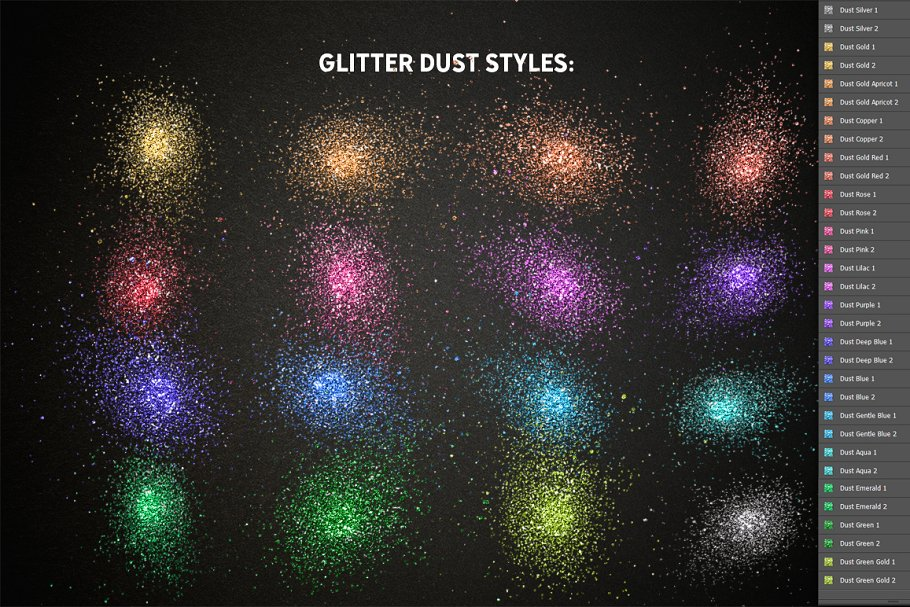 Glitter Pro Photoshop Brushes, Styles and Actions