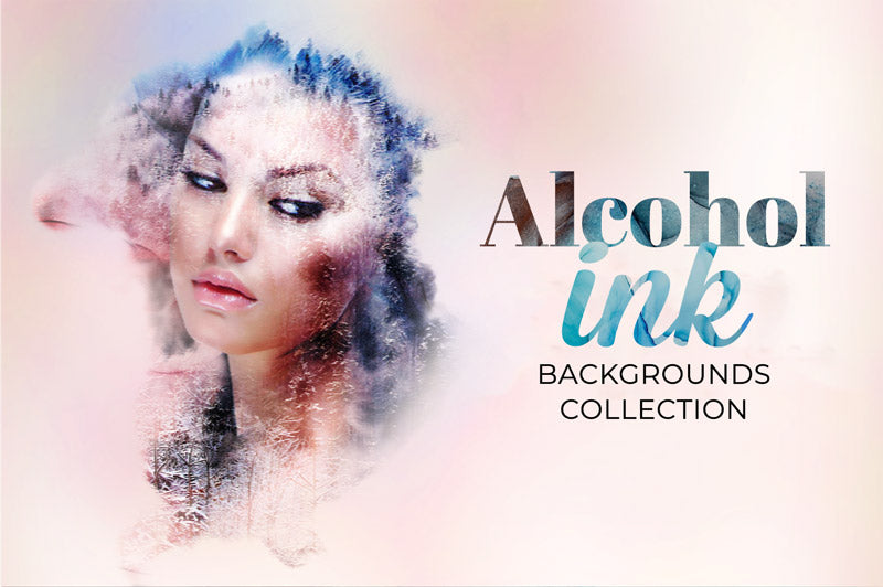 Alcohol Ink Backgrounds Collection
