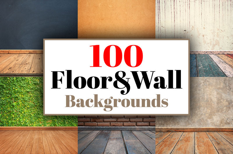 100 Realistic Floor and Wall Backgrounds