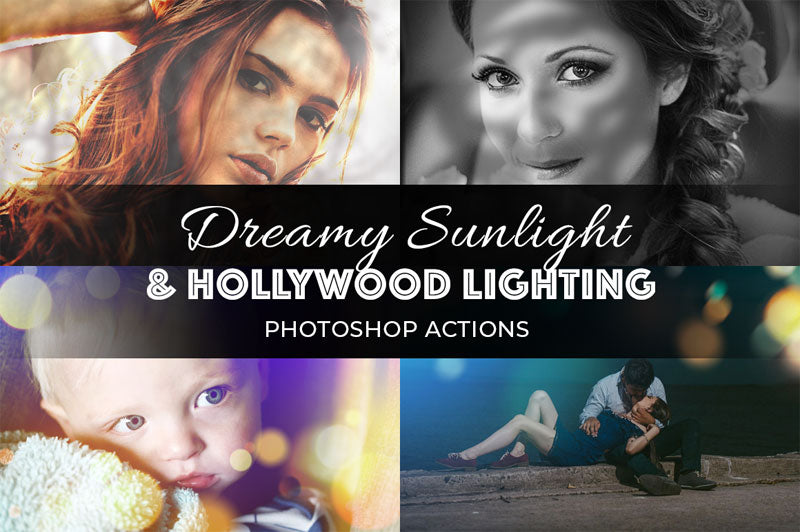 Dreamy Sunlight & Hollywood Lighting Photoshop Actions