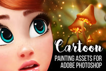 Cartoon Painting Assets for Adobe Photoshop