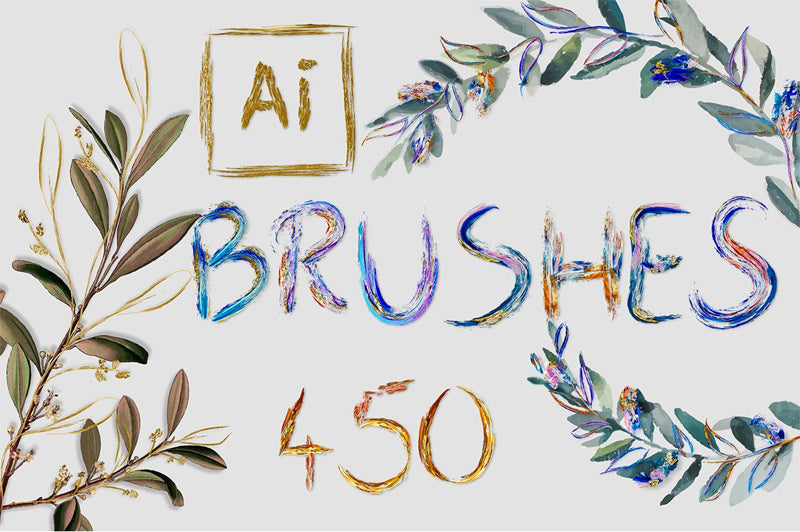 450 Art Brushes for Adobe Illustrator