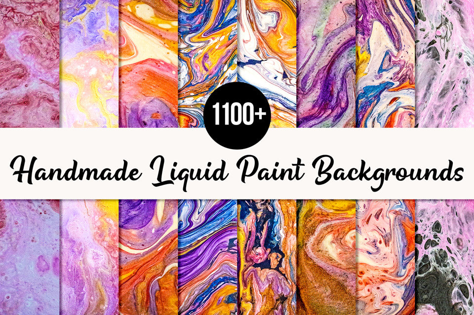 1100+ Handmade Liquid Paint Backgrounds Collection