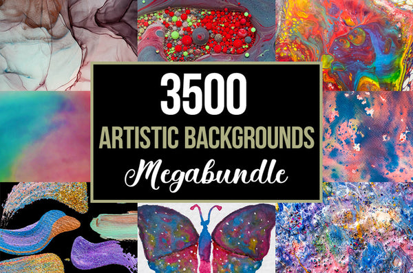 The 3500+ Artistic Backgrounds Mega Bundle